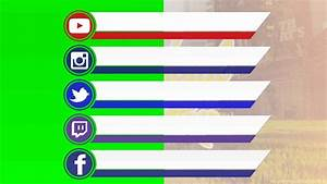 Social Media Bar YouTubeInstagramTwitterTwitch