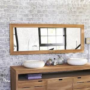 miroir teck tona teint miroirs salle de bain chez tikamoon With miroir salle de bain teck