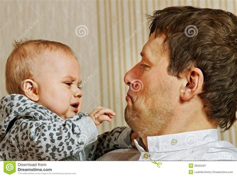 Father And Baby Royalty Free Stock Photography Image