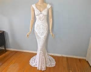 vintage inspired lace wedding dresses vintage inspired boho wedding gown lace wedding dress wedding dress sz small