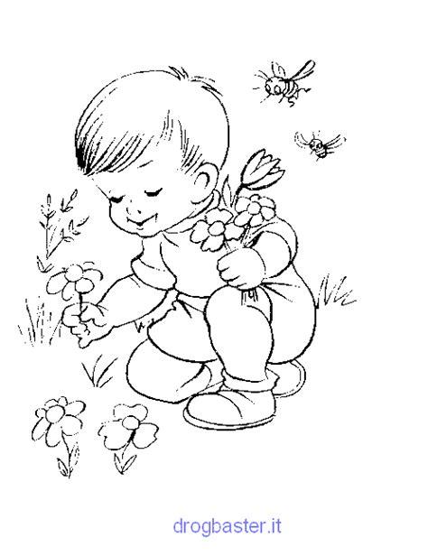 disegni facili da colorare  bambini dellasilo
