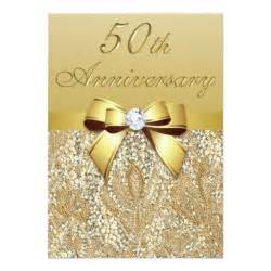 4th wedding anniversary gifts 50th gold wedding anniversary faux sequins and bow invitation card ladyprints