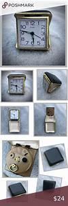 Vintage Elgin Folding Alarm Clock Manual Wind In 2020