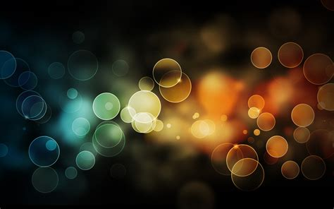 Abstract Colour Bokeh Free Background Psd