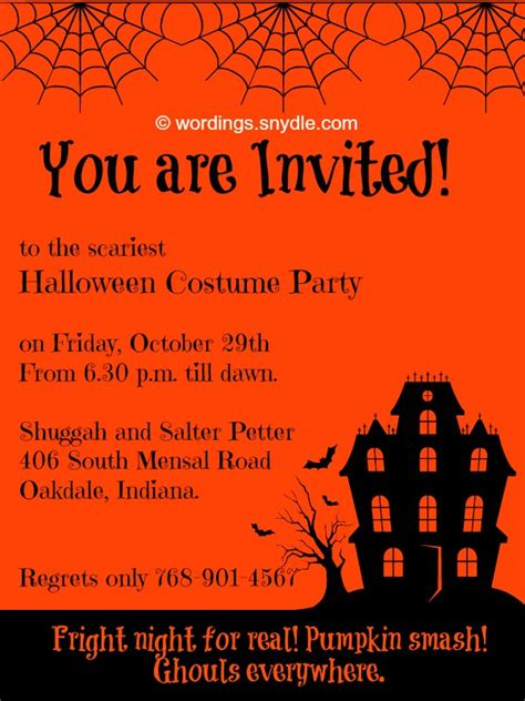halloween happy hour invitation wording festival collections