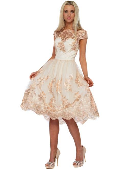 chi chi belle tea dress cream lace prom dress