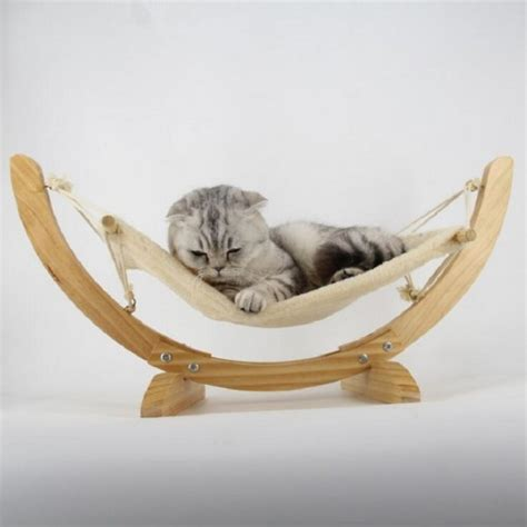 pet hammock bed wooden handmade cat bed hammock mat swing bed