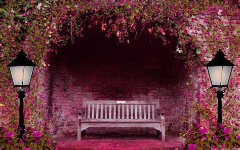 romantic bench mac wallpaper  allmacwallpaper