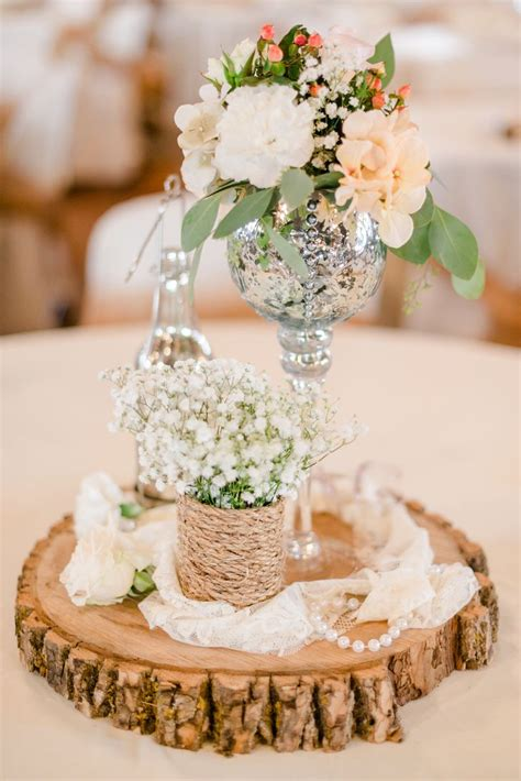 Rustic Centerpieces Babies Breath And Centerpieces On
