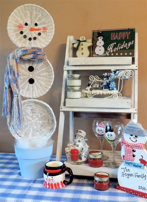 upcycled christmas crafts easy crafts an upcycled basket snowman hometalk