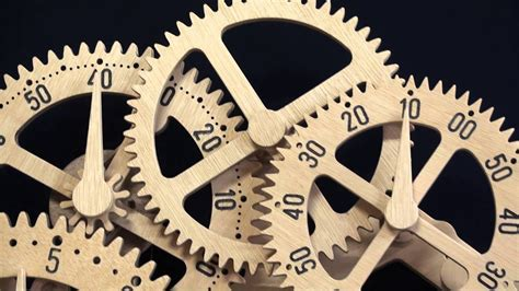 wooden gear clock genesis design  clayton boyer youtube