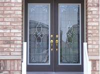 door window inserts Stained Glass Installitions - ATM Glass Inserts Decorative ...