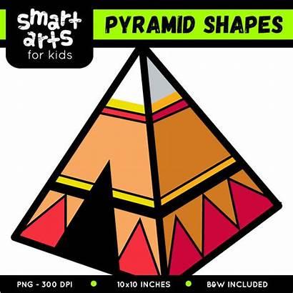 Pyramid Shapes Clip Arts