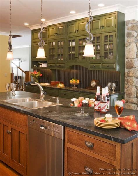 arts and crafts kitchen design ideas pictures of kitchens traditional green kitchen cabinets 9042