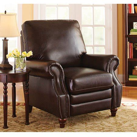 Recliner Chair Walmart better homes and gardens nailhead leather recliner