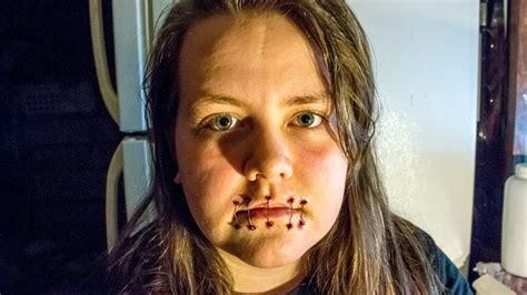 foto de Sewn Mouth Shut Makeup Tutorial YouTube