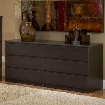 contemporary bedroom dressers modern 6 drawer dresser brown espresso 11200