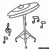 Cymbals Coloring Hi Hat Drum Draw Thecolor Beginner Instruments Zildjian Sabian Paiste sketch template