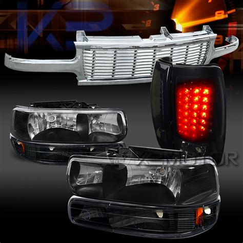 02 silverado tail lights 99 02 silverado black headlights led tail lights black