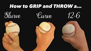 Baseball Pitching Curveballs How To Throw A Slurve