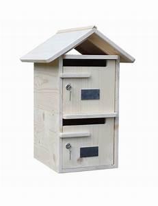 Boites Aux Lettres Double Porte : boite aux lettres bois double toit bois massif ~ Edinachiropracticcenter.com Idées de Décoration