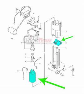 Quantum T35 Intank Fuel Pump With Strainers For Kawasaki