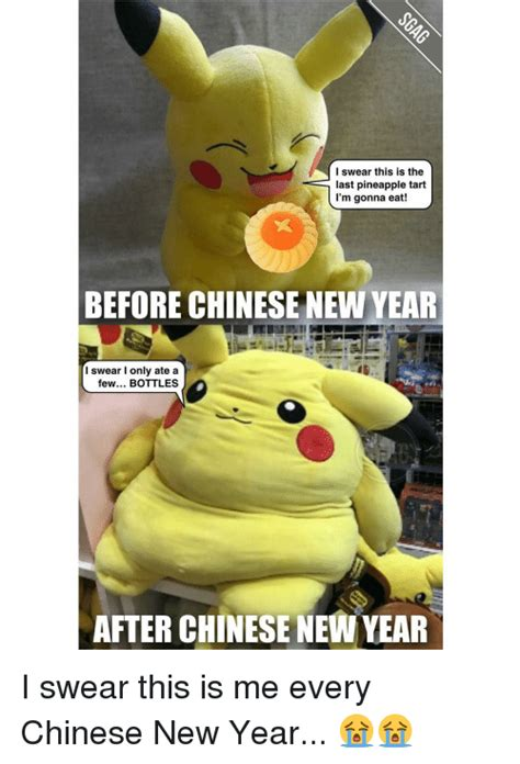 Chinese New Year Meme - i swear this is the last pineapple tart i m gonna eat before chinese new year i swear only ate
