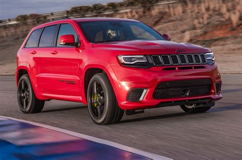 jeep suv 2018 jeep grand cherokee trackhawk first drive fastest