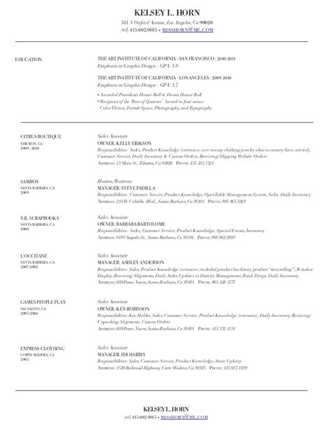 Fashion Sales Resume by The Gallery For Gt Clothing Retail Associate Resume