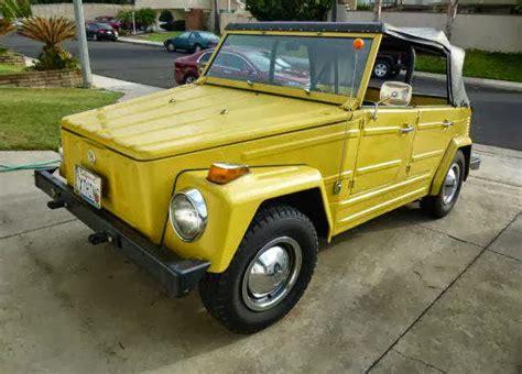 Vw Thing by 1973 Vw Thing Original Yellow Buy Classic Volks