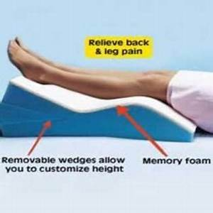hermell soft white leg wedge pillow memory foam wedges With adjustable leg support pillow wedge