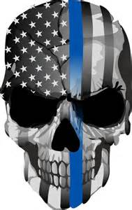 Thin Blue Line Punisher Skull