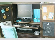 Armoire turned Computer Cabinet Stacy Risenmay