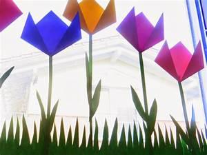 Blumen Basteln Fensterdeko : bodenseewellen eine tulpenwiese f r s fenster ~ Markanthonyermac.com Haus und Dekorationen