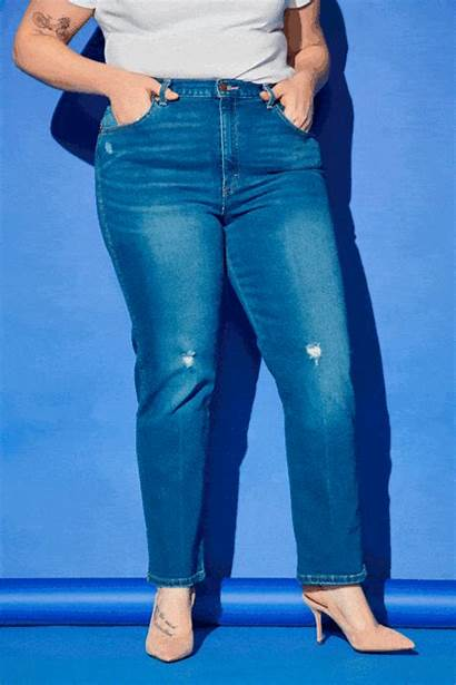 Jeans Curvy Ripped Denim Fitting Navy Goodhousekeeping