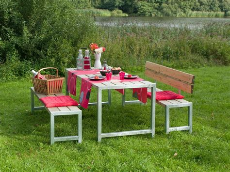 Garten Im Quadrat  Moderne Outdoorsitzgarnitur Planken