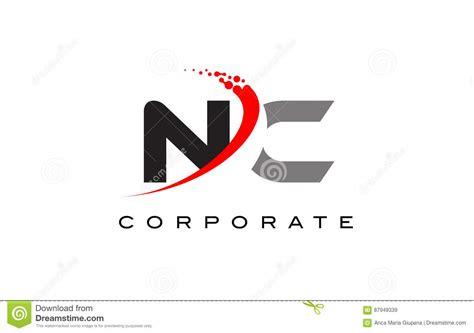 nc modern letter logo design  swoosh stock illustration illustration  abstract trend