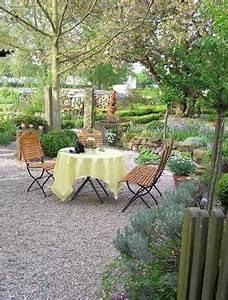 Terrasse Mit Kies : ein sitzplatz im garten mit kies sch n gestaltet garten wu pinterest terrasses ~ Markanthonyermac.com Haus und Dekorationen
