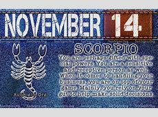 November 14 Zodiac Birthday Horoscope Personality