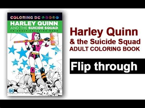 harley quinn  suicide squad adult coloring book