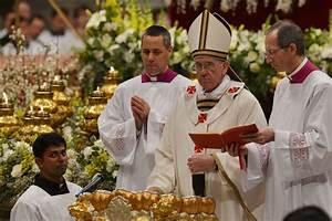 pope francis celebrates trimmed back easter vigil