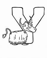 Coloring Yak Alphabet Animal Abc Letter Letters Activity Cartoon Clipart Para Animals Colorear Abecedario Printable Sheets Animales Con Letras Animaux sketch template