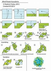 Wind Flower Kusudama - Diagram