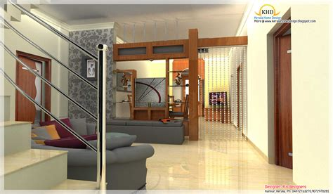 Home Interior Kerala Style : Beautiful 3d Interior Designs