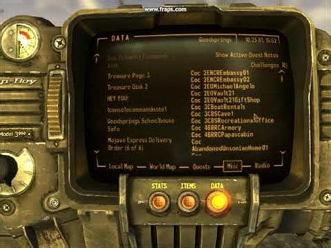 fallout nv console commands fallout new vegas coc teleport console commands list