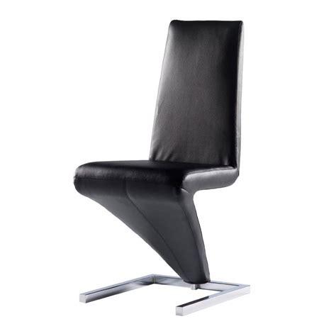 chaise cuir noir chaise design simili cuir noir diapason