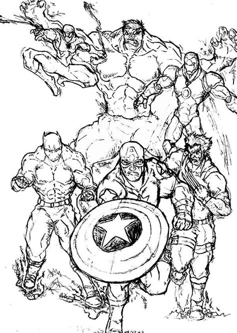 avengers to print coloring pages for kids and for adults