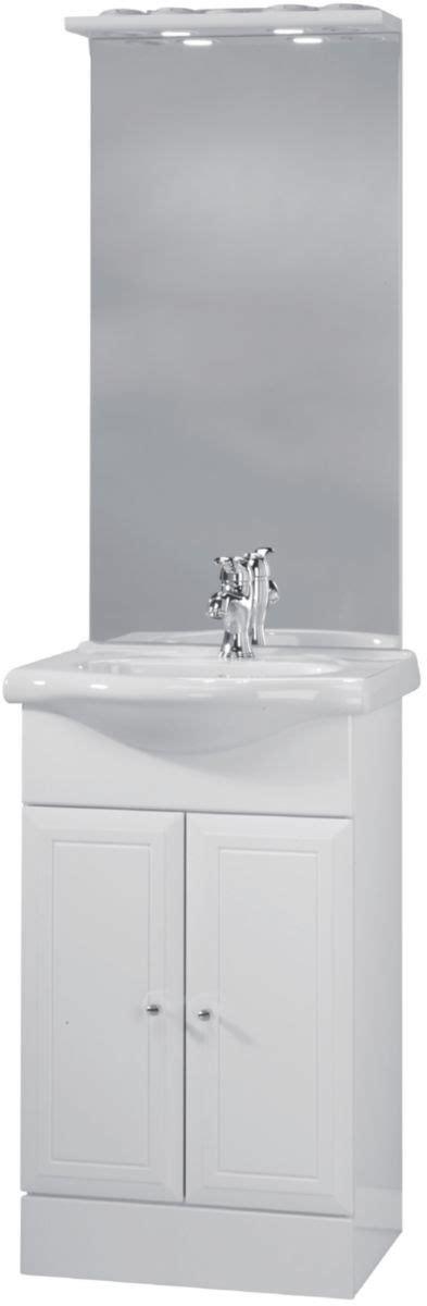meuble sous vasque tolede 2 blanc 50 cm 2 portes pour plan c 233 ramique alterna