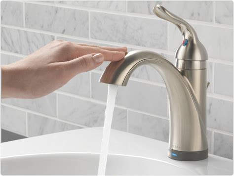 Faucet Touch by Delta 538t Dst Lahara Single Handle Lavatory Faucet With