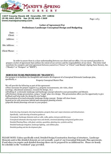 letter  agreement design